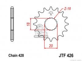 JT FRONT SPROCKET 426.12