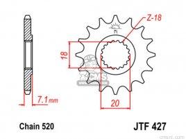 JT FRONT SPROCKET 427.11