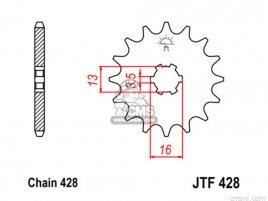 JT FRONT SPROCKET 428.14