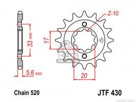 JT FRONT SPROCKET 430.12