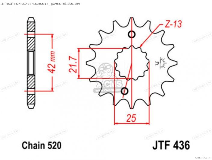 Jt Front Sprocket 436/565.14 photo