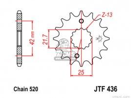 JT FRONT SPROCKET 436/565.15