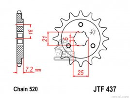 JT FRONT SPROCKET 437.14