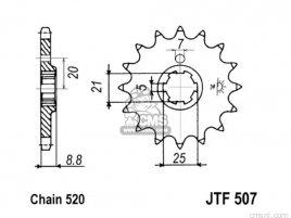 JT FRONT SPROCKET 507.15
