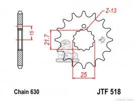 JT FRONT SPROCKET 518.14