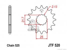 JT FRONT SPROCKET 520.17