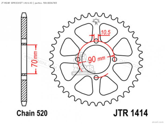 Jt Rear Sprocket 1414.43 photo