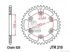 JT REAR SPROCKET 210.40