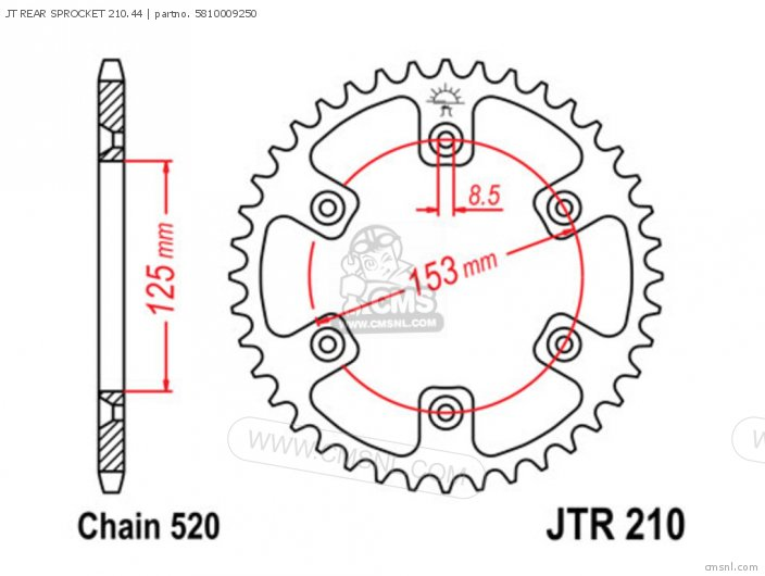 Jt Rear Sprocket 210.44 photo