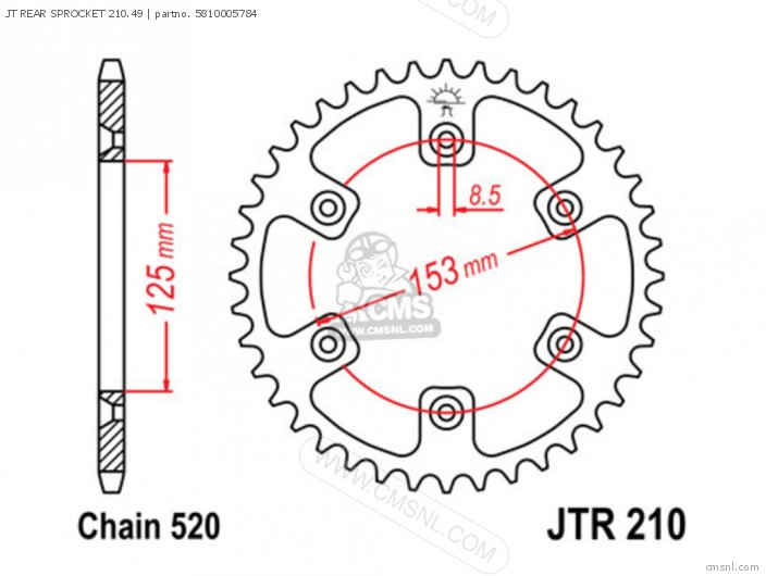 Jt Rear Sprocket 210.49 photo