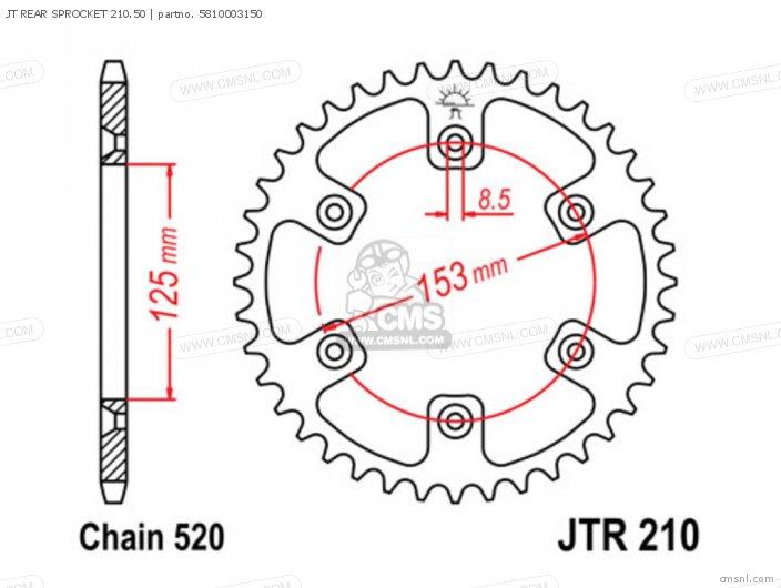 Jt Rear Sprocket 210.50 photo
