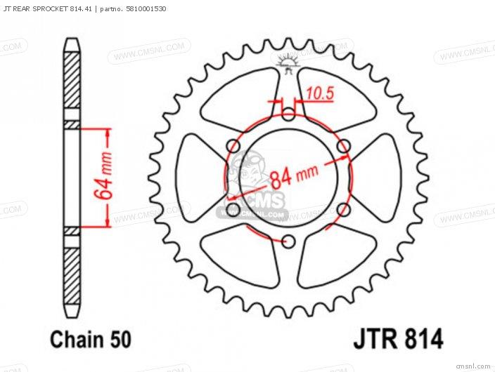 JT REAR SPROCKET 814 41