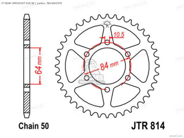 Jt Rear Sprocket 814.50 photo