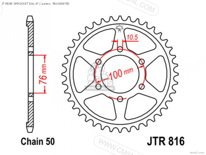 Jt Rear Sprocket 816.47 photo