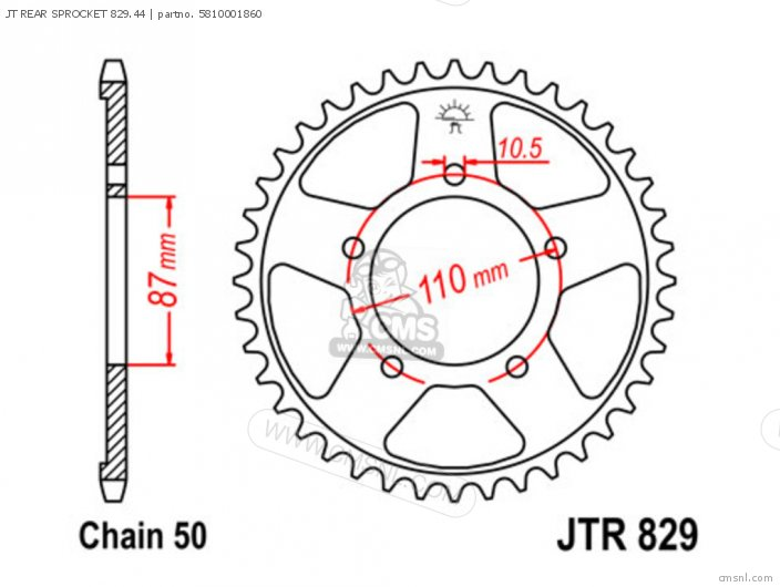 Jt Rear Sprocket 829.44 photo