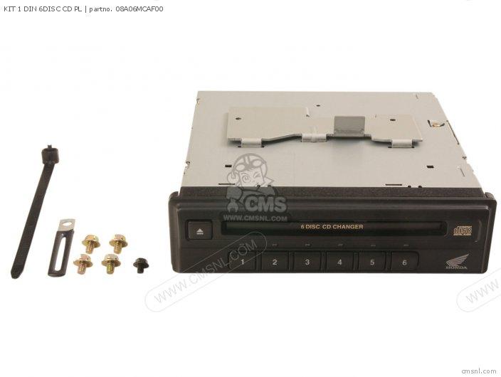 Honda KIT 1 DIN 6DISC CD PL 08A06MCAF00