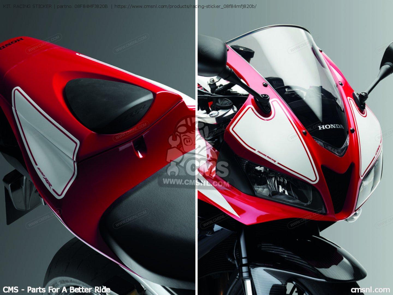 Honda Cbr600rr Price Kit. Racing Sticker Cbr600rr Access 2008 (8) 08F84MFJ820B