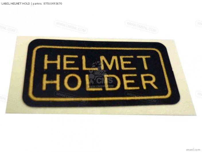LABEL HELMET HOLD