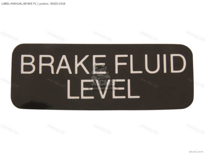 Label-manual, Brake Fl photo