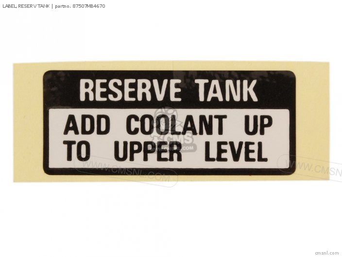 LABEL RESERV TANK