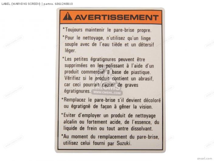 Label (warning Screen) photo