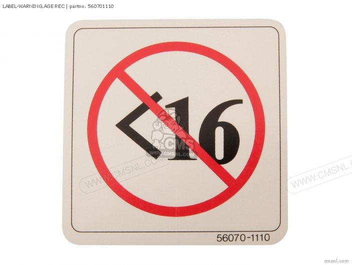 Label-warning, Age Rec photo