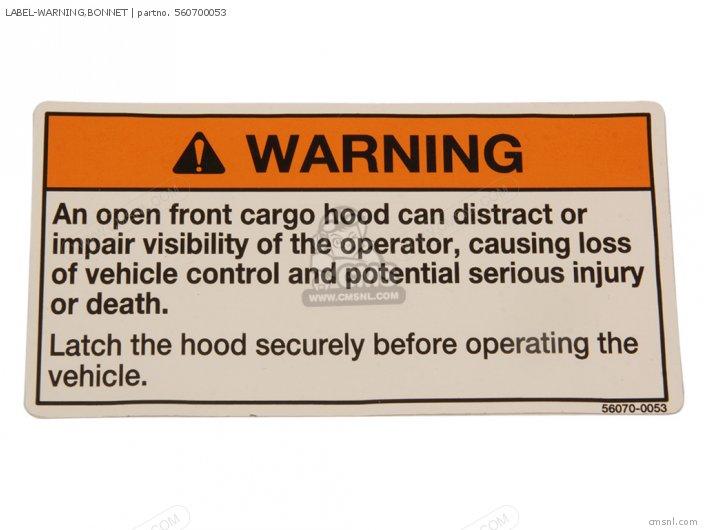 Label-warning, Bonnet photo