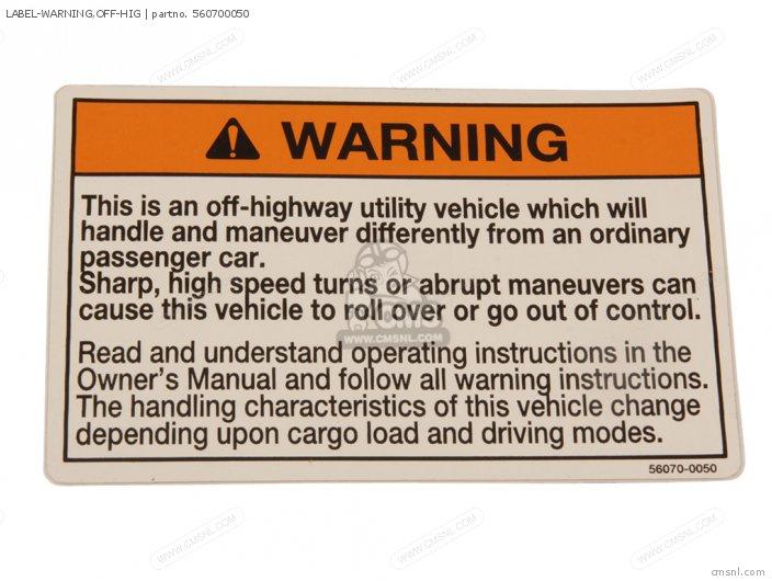 Label-warning, Off-hig photo