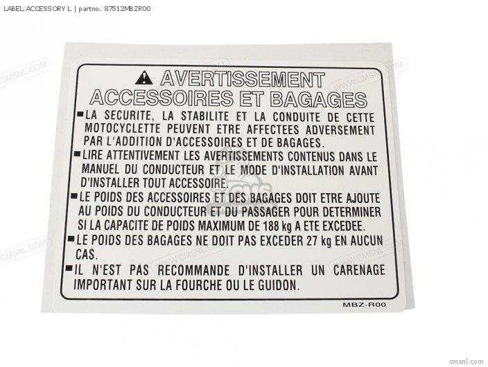 Label, Accessory L photo