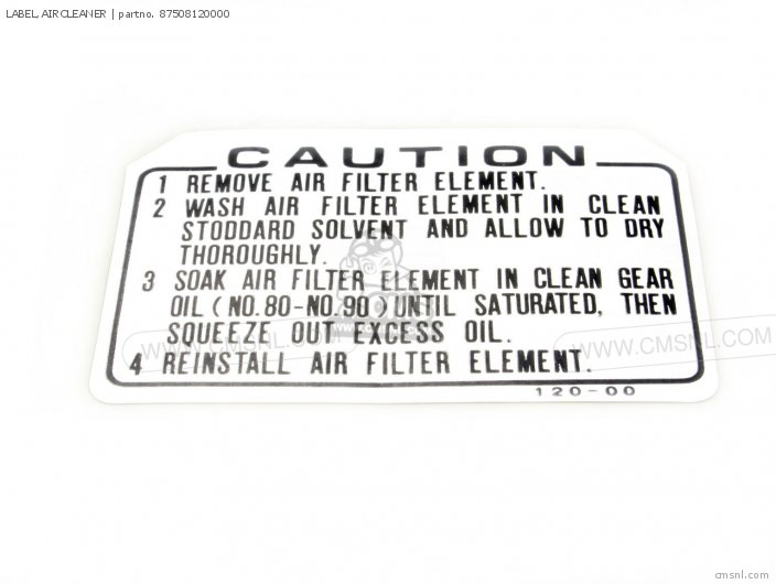 Label, Aircleaner photo