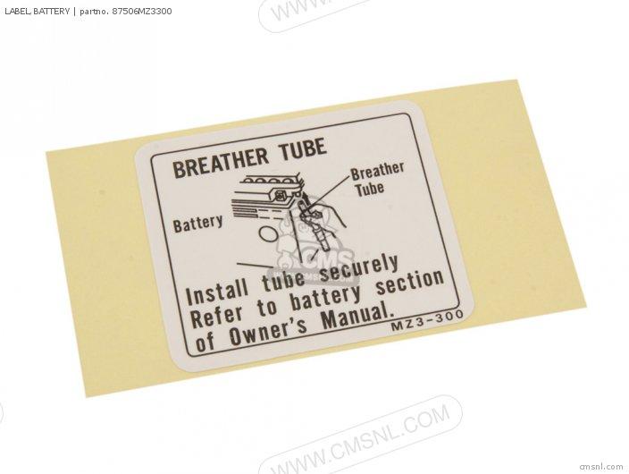 Label, Battery photo