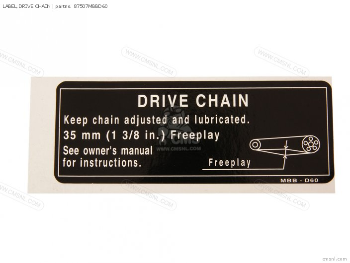Label, Drive Chain photo