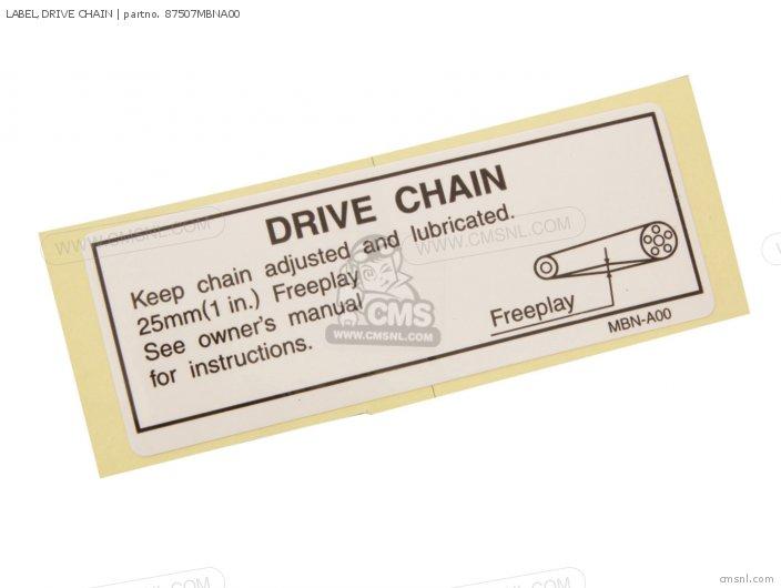 Label, Drive Chain photo