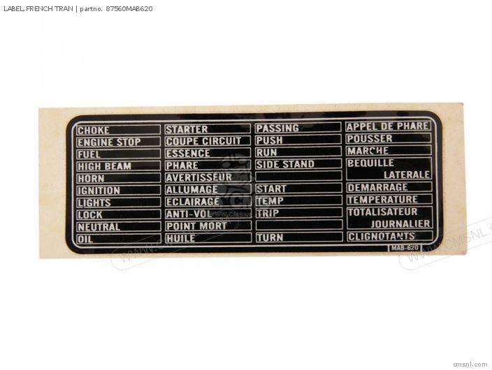 Label, French Tran photo