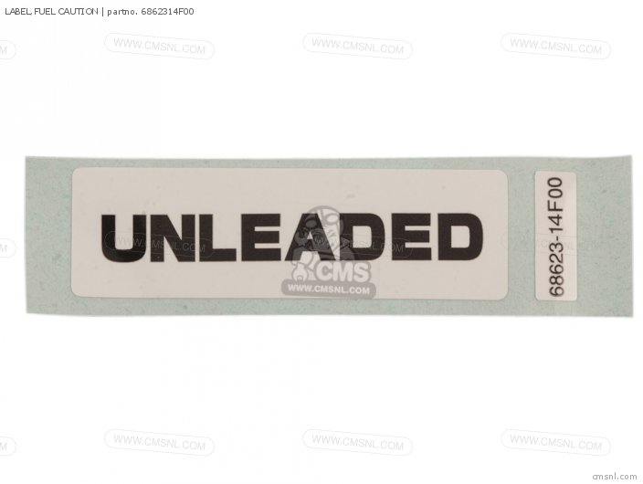 Label, Fuel Caution photo