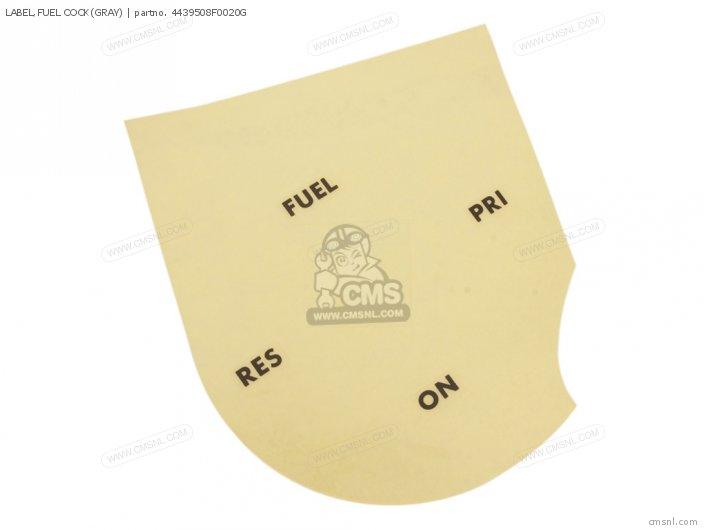 Label, Fuel Cock(gray) photo
