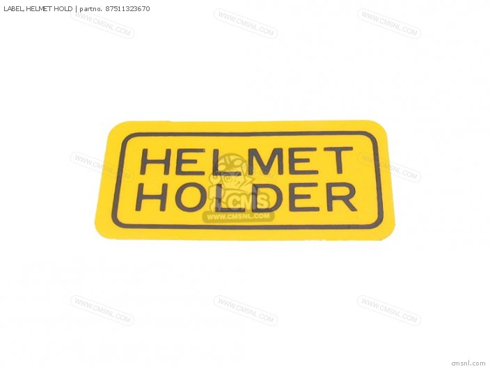 Label, Helmet Hold photo