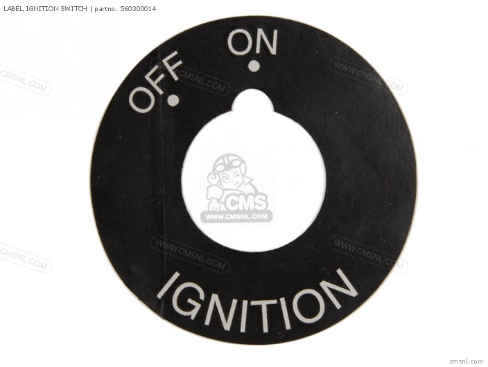 Label, Ignition Switch photo