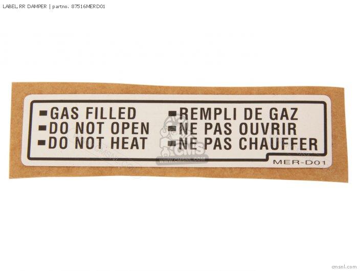 Label, Rr Damper photo