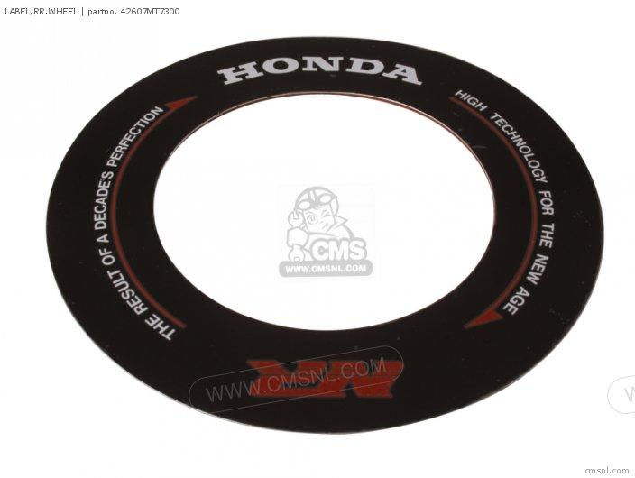 Label, Rr.wheel photo