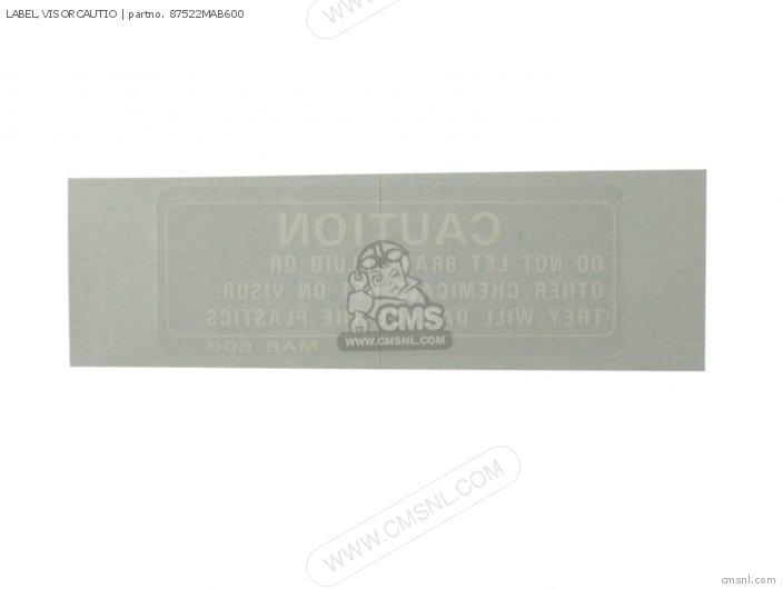Label, Visorcautio photo