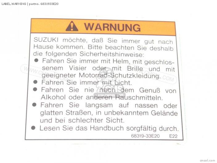 Label, Warning photo