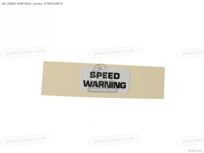 LBL SPEED WARNING