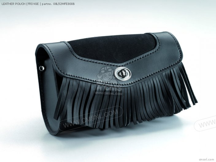 Vt750 Shadow Spirit Leather Pouch fringe