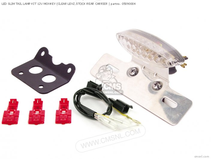 Led Slim Tail Lamp Kit 12v Monkey (clear Lenz, Stock Rear Carrier photo