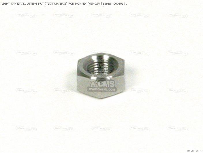 Light Tappet Adjusting Nut (titanum/1pcs) For Monkey (m5x0.5) photo