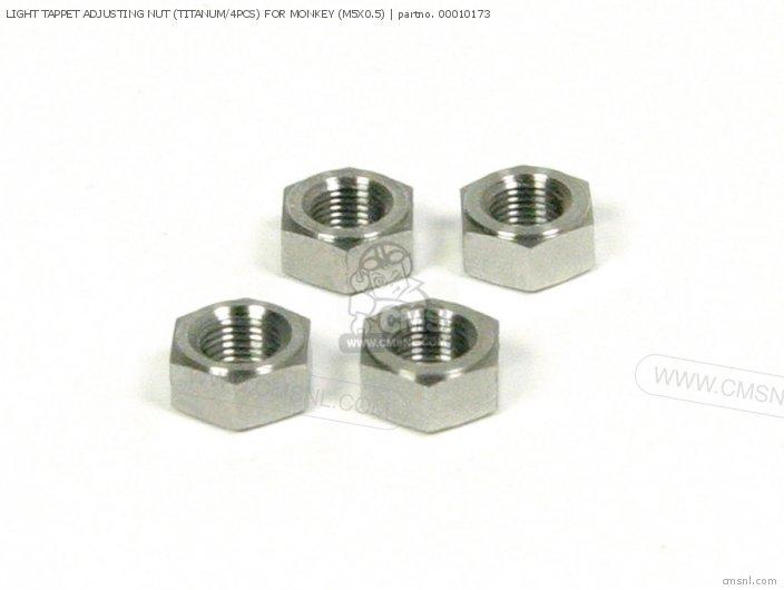 Light Tappet Adjusting Nut (titanum/4pcs) For Monkey (m5x0.5) photo