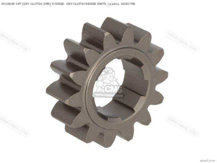 M-1gear 14t (dry Clutch /spr) 5-speed  Dry Clutch Repair Parts photo