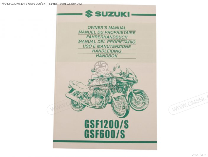 Manual, Owner's Gsf1200/sy photo