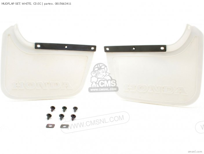 MUDFLAP SET  WHITE  CIVIC